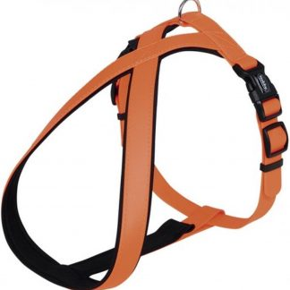 Nobby comfort hondentuig cover oranje - L/XL - buikband 70-100 cm - breedte 25-35 mm