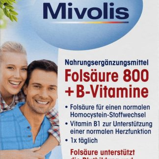 Mivolis Foliumzuur 800 + B-vitamines - tabletten (60 stuks)