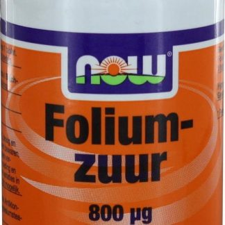 Now Foods - Foliumzuur 800 μg - Met Vitamine B12 - 250 Tabletten