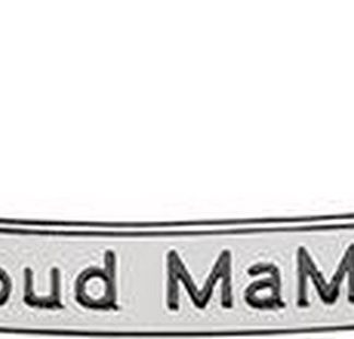 Zwangerschapsketting Proud Mama bangle silver